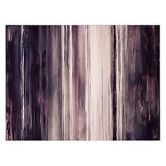 Artist Sydney Edmunds used many hues of amethyst with a hint of gray to show the many shades of purple at its best. Bright Aubergine, $499.95