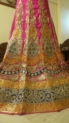 Gota Patti Lehenga, Bridal Lehenga Collection, Lahenga, Lehenga Designs, Beautiful Moments, Mehendi, Indian Fashion, Bohemian Rug, Bride
