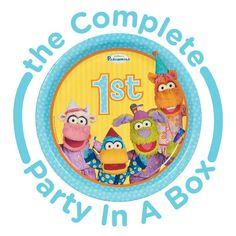Pajanimals 1st Birthday Party in a Box | www.birthdaypartykidz.com #birthday #party #decorations  #Supplies