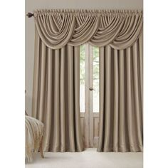 Elrene Taupe All Seasons 52-In. X 84-In. Blackout Window Panel (290 MAD) ❤ liked on Polyvore featuring home, home decor, window treatments, curtains, taupe, tan curtains, blackout curtains, blackout drapery, taupe blackout curtains and black out curtains