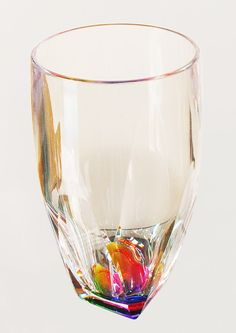 #LGLimitlessDesign #Contest - a subtle rainbow color glass such as this, in the glass panel cabinet shows just enough color to spark your interest and curiosity.  Rainbow 17 Oz. Tumbler