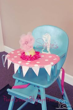 Wooden high chair redo via Southern Revival