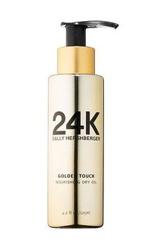 The Pro Guide To Style Your Hair In 4 Products Or Less, Because Minimalism | Refinery29 | Bloglovin'. Sally Hershberger 24K Golden Touch Nourishing Dry Oil, $40, available at Sephora.