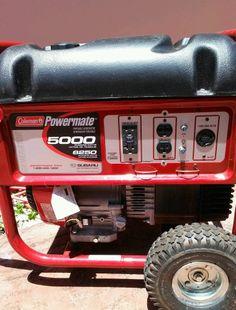 17 best best portable generator under 500 images on pinterest coleman powermate 6250 10 hp generator 5000 watts fandeluxe Images