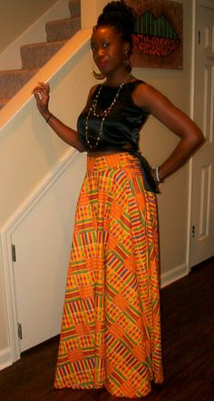 ♥Kente skirt by ngozi ~Latest African Fashion, African Prints, African fashion… African Inspired Fashion, African Print Fashion, Africa Fashion, Fashion Prints, Love Fashion, African Prints, Ladies Fashion, Fashion Styles, African Dresses For Women