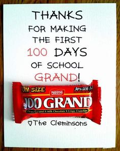 Cute 100th day of school treat!