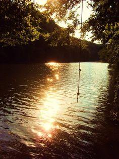 A calm relaxed summer river<3