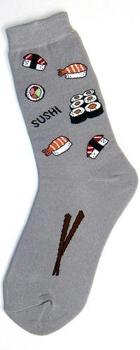 Foot Transport Sushi Womens Socks, Pack Of 3 Funky Socks, Blue Socks, Food Socks, Womens Socks, Youre Cute, Kawaii, Lingerie Sleepwear, Japanese Fashion, Socks