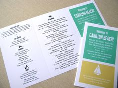 Welcome Travelers  Wedding Intinerary by thatgirlpress on Etsy, $1.75
