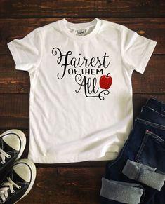 Fairest of them all t shirt, disney shirt for girls, disney t shirts for kids, little girl disney sh Disney Shirts For Family, Shirts For Teens, Couple Shirts, Travel Shirts, Vacation Shirts, Diy Shirt, Workout, Disney Girls, Clipart