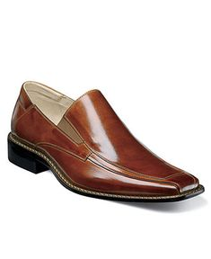 Stacy Adams Shoes, Grayson Bike Toe Slip On Loafers - Mens All Men's Shoes - Macy's