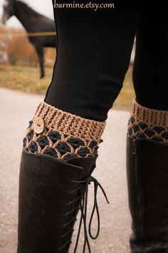 Hey, I found this really awesome Etsy listing at http://www.etsy.com/listing/166943674/crochet-boot-cuffs-wool-boot-socks