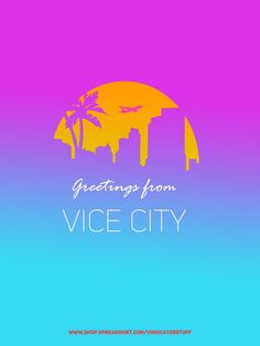 Vice city themed design !