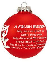 Polish Blessing Red Tulip Ornament-Printed in both English and Polish this satin glass ornament reads. Christmas Blessings, Christmas Quotes, Christmas Items, Christmas Ornaments, Xmas, Polish Christmas Traditions, Holiday Traditions, Family Traditions, Polish Words