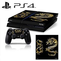 PS4 Fantasy Dragon Whole Body VINYL SKIN STICKER DECAL COVER for PS4 Playstation 4 System Console and Controllers ** More info could be found at the image url.Note:It is affiliate link to Amazon.
