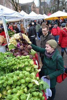 Portland, Oregon, Farmer's Market...down town, south park blocks