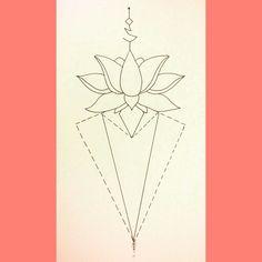 Original Geometric Lotus Tattoo by LS9.