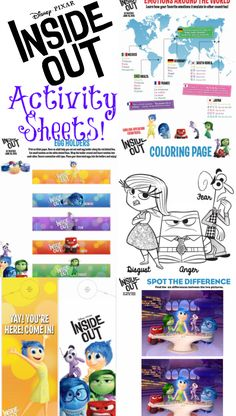 Get your family even more excited about INSIDE OUT with these fun family activity sheets to print out and do!