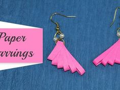 Quilling Earrings: How to Make Paper Quilling Earrings. Quilling Paper Earrings (Jhumkas): You love quilling jewelry, isnt it? Today Crafting Hours brings to you an easy step by step guide video by which you can easily make paper quilling earrings at Paper Quilling Earrings, Paper Quilling Flowers, Quilling Flower Designs, Bell Paper, Daisy Petals, Quilling Techniques, Bracelet Crafts, Glue Crafts, How To Make Paper