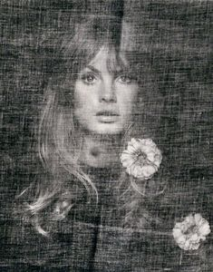 Portrait by David Bailey, Jean Shrimpton, bromide print. Portrait by David Bailey, Jean Jean Shrimpton, Catherine Deneuve, Jacqueline Bisset, Candice Bergen, Swinging London, Lauren Hutton, Veronica, David Bailey Photography, Colleen Corby