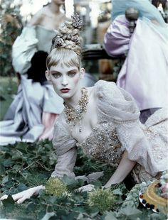 """fashionsprose: """" """"A Feast for the Eyes"""" photographed by Steven Meisel 