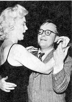 Marilyn dancing with Truman Capote at El Morocco in New York, March 24th 1955.