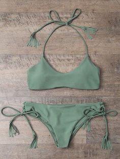 Borlas cabestro conjunto del bikini