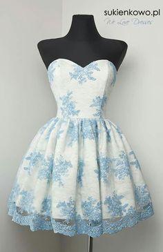 #dress #blue #white #short #beautifull