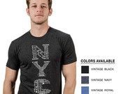 New York City/Broadway Men's Graphic Tee v2.015 -- Vertical Art