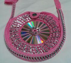 Pink Shiny CD Purse. $35.00, via Etsy.