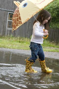 I'm tottaly a fan of rain boots..