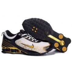 365708adc Nike Shox Dream Black Gold White Men Shoes  79.59 Nike Shox For Women