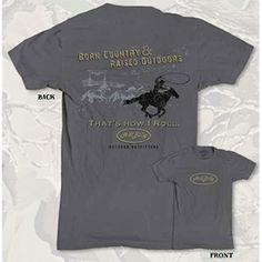 HillBilly Brand: Men's Gray HillBilly Horse T-Shirt - $16.95