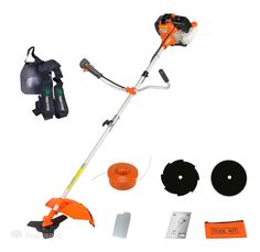 52cc Heavy Duty 2in1 Petrol Strimmer Grass Trimmer, Brush/Bush Cutter, 3 Blades #TIMBERPRO