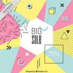 幾何学的な形で現代の売却の背景 無料ベクター