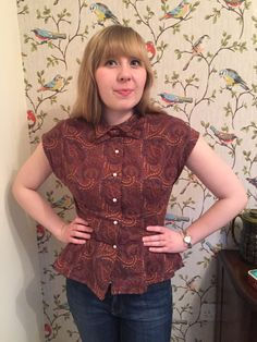 1940's Retro Blouse – Simplicity 1590 – traineehousewife - Adorable bowtie