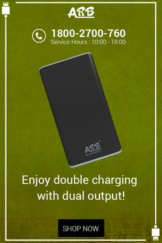 Enjoy Double Charging With Dual Output!! #PowerBank‬ ‪#ARBPowerBank‬  Shop Now:- http://www.arbpowerbank.com/