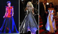 10 Glowing Chic Gowns. Our Burningman friends were way ahead of the curve on this one. #brilliantideas