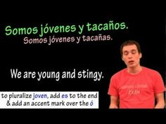 ¡Hola a todos!  In this video lesson we learn how to conjugate SER (to be) in the present tense as well as use it with descriptions and characteristics.  Enjoy!  Like the video if it was helpful and feel free to leave any comments or questions below.   Thanks for watching!  For more Spanish lessons, wordbanks and much more, check out http:...