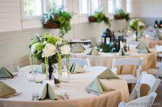 Spanish Moss Wedding Flower Centerpeice