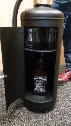 Inside of Jack Daniel's Fire extinguisher