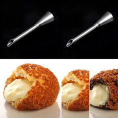 Promotion Cream Icing Piping Nozzle Tip Stainless Steel Long Puffs Nozzle Tip Set Decorating Tool Bocanadas de boquilla #Affiliate