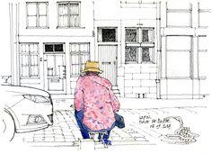 Liège, Lapin dessine, place Sainte-Barbe