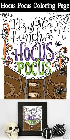 Hocus Pocus Coloring Page