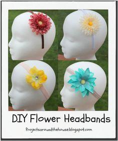 DIY Flower Headbands Tutorial