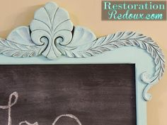 Antique Mirror Makeover (and a bit about me) - Restoration Redoux http://www.restorationredoux.com/?p=4785