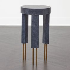 MELANGE SIDE TABLE - BURN BRASS w/ DARK GREY PLASTER