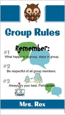 Group Rules Sign  Inspiration from School Counselor Blog - Elementary School Counseling