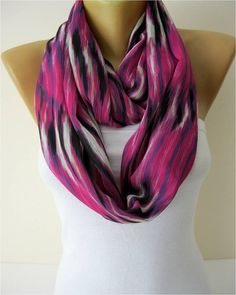 Infinity Scarf Shawl Circle Scarf Loop Scarf Gift by MebaDesign, $13.90