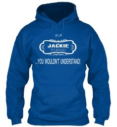 Jackie Name Tshirt Royal Sweatshirt Front